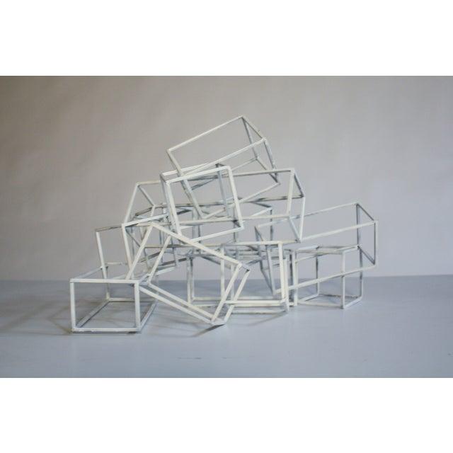 Geometric Metal Boxes Sculpture - Image 7 of 7