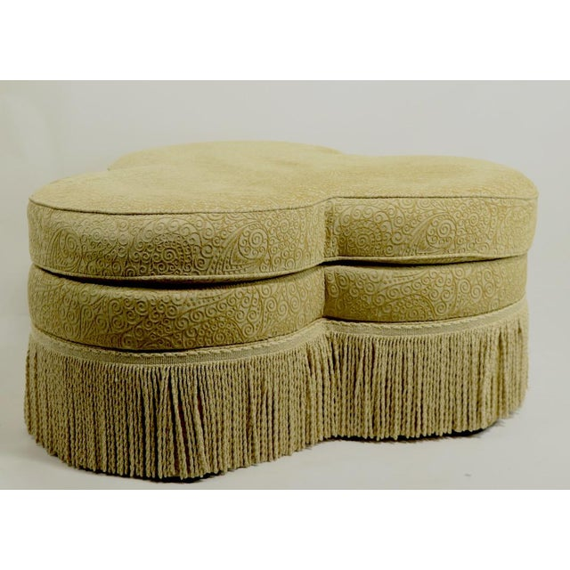 Hickory Furniture Fringed Cloverleaf Ottoman by Hickory Furniture For Sale - Image 4 of 12
