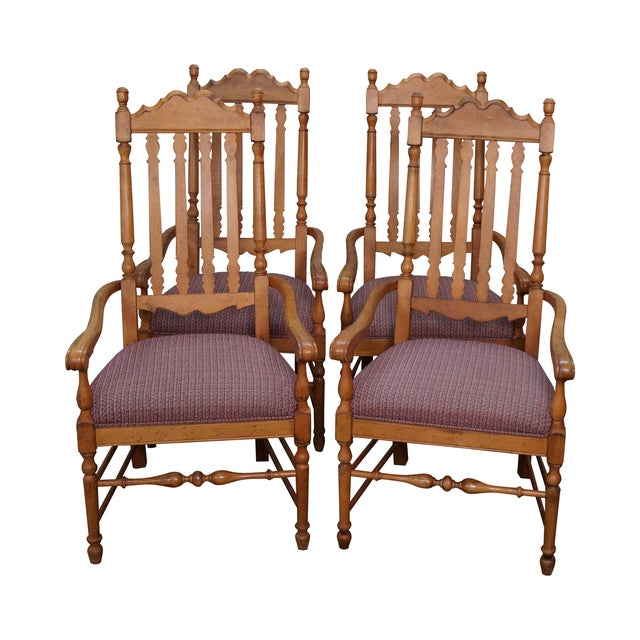 Drexel Heritage Bannister Back Dining Chairs - 4 - Image 1 of 10