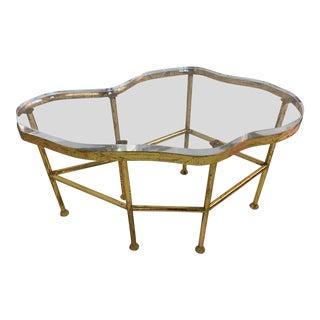 Bungalow 5 Cristal Gold Leaf End Table For Sale