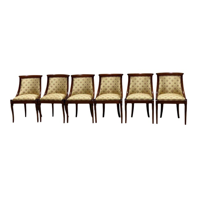 French Charles X Revival Dining Chairs - Set of 6 For Sale