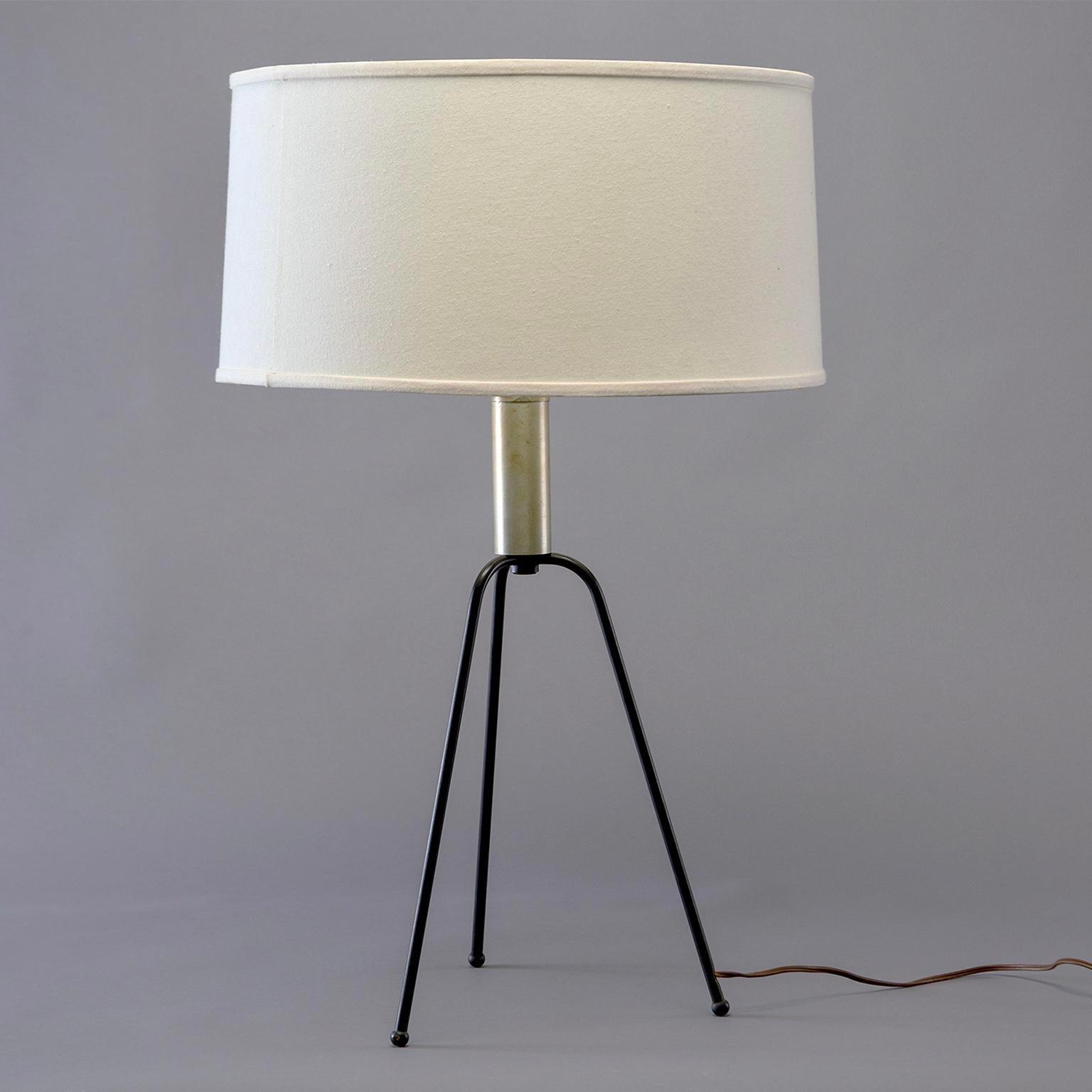 Mid Century Iron Tripod Table Lamp Chairish