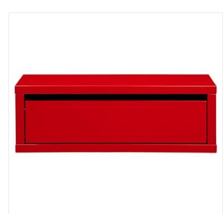 Modern Cb2 Red Wall Mounted Storage Shelf For Sale