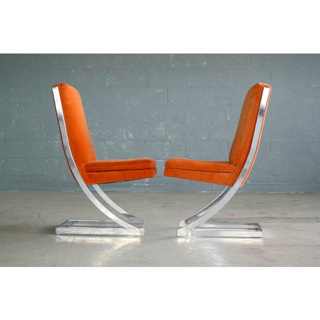 Milo Baughman Eight Chrome 'Z-Dining Chairs' for Design Institute of America - Image 5 of 11
