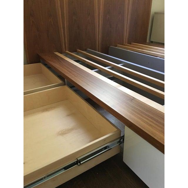"Blu Dot Blu Dot ""Modu-Licious"" Walnut Full Size Storage Bed For Sale - Image 4 of 5"
