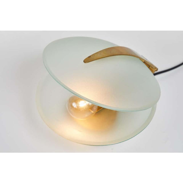 1960s Max Ingrand Glass and Brass Shell Table Lamps for Fontana Arte, Circa 1960 For Sale - Image 5 of 13