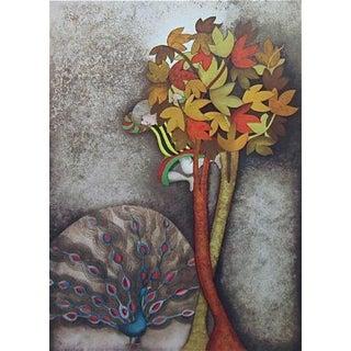 A Peacock for Sophie, Original Lithograph, Graciela Boulanger For Sale