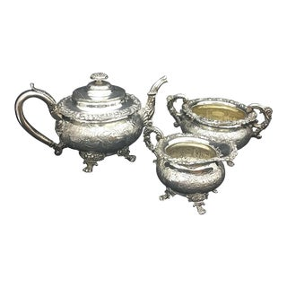 1818 Regency Sheffield Plate English Tea Set - Set of 3 For Sale