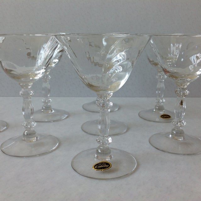 Mid-Century Modern Cambridge Optic Crystal Cocktail Stemware For Sale - Image 3 of 11