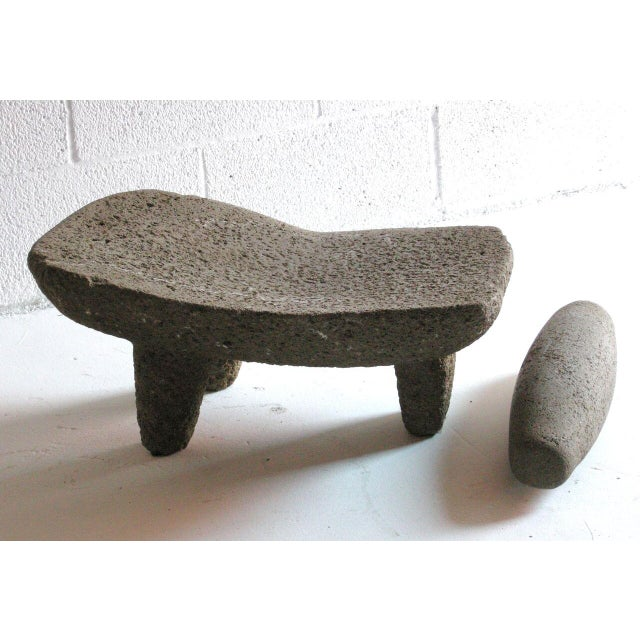 Two piece 19th Century Grinding Stone/Matate For Sale - Image 4 of 6