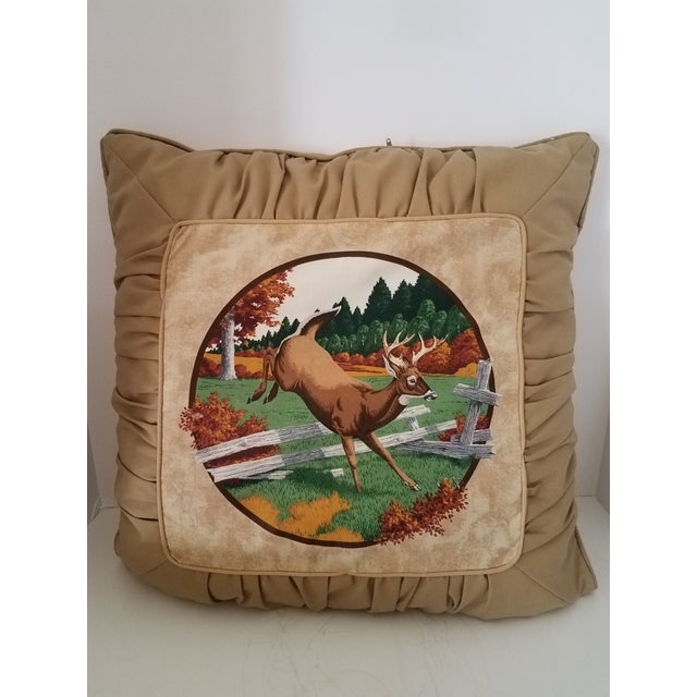 Boho Chic Tufted Deer Accent Pillows - A Pair For Sale - Image 3 of 5