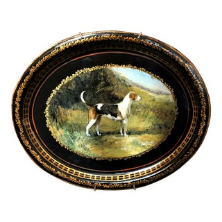 Pair Antique Victorian Painted Tole Trays, Circa 1890-1900. For Sale