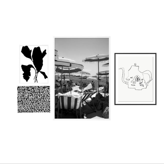 Black and White Gallery Wall, Set of 4 For Sale - Image 11 of 11