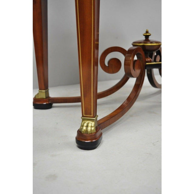 Late 20th Century 20th Century French Empire John Widdicomb Figural Bronze Mounted Occasional Lamp Table For Sale - Image 5 of 12