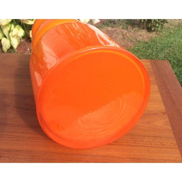 Mid-Century Modern Alsterfors Swedish Orange Glass Vase, 1970s For Sale - Image 3 of 6