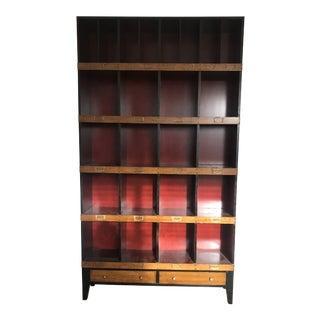 Draper Black & Red Hardwood Cabinet For Sale