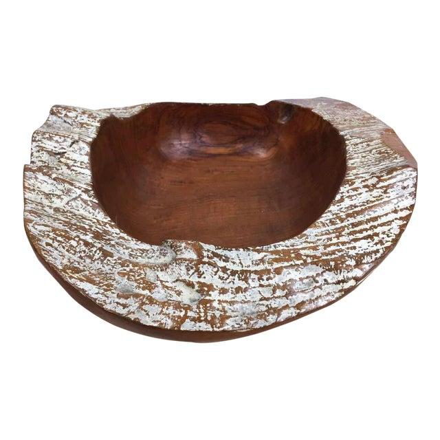 Handmade Teak Wooden Bowl - Image 1 of 11