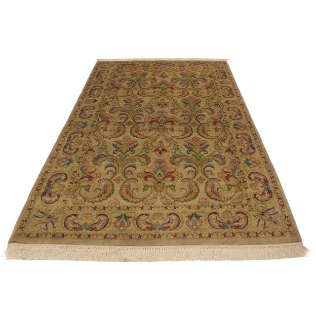 Asian Pak-Persian Deandra Gray/Gray Wool Rug - 4'0 X 6'0 For Sale - Image 3 of 8