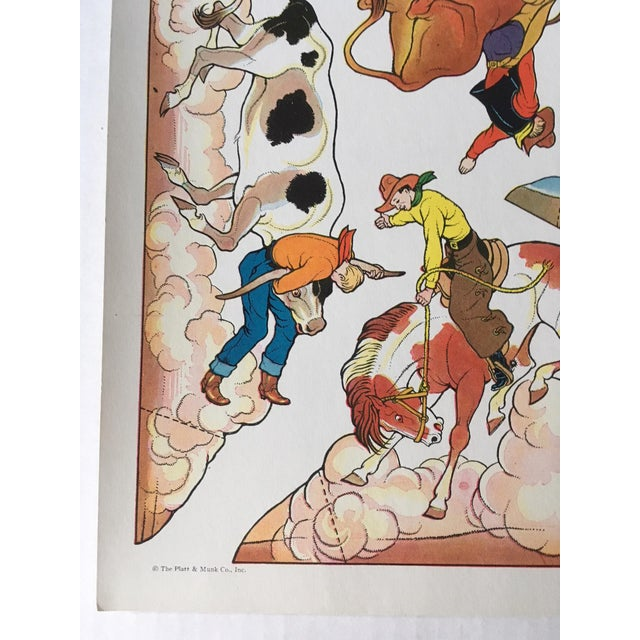 Vintage Cowboy & Indian Cut Outs - Uncut Sheet #1 For Sale - Image 4 of 4