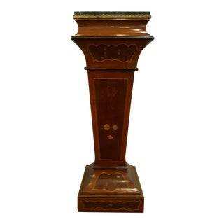 Classical Vintage French Marble Top Pedestal For Sale