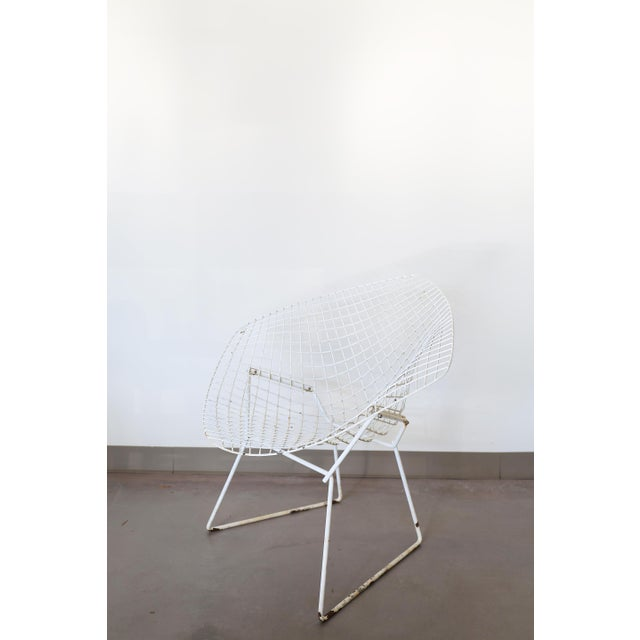 White Bertoia Diamond Chair by Knoll - Image 3 of 6