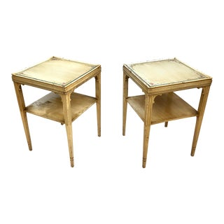Pair Vintage Country Style End Tables For Sale
