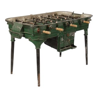 Vintage Cast Metal Foosball Table For Sale