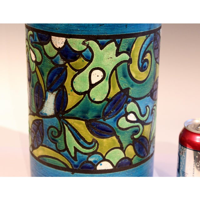Ceramic Huge Bitossi Pottery Londi Vase Italian Rn Label Raymor Ceramic Umbrella Stand For Sale - Image 7 of 9