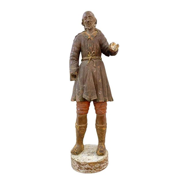 Antique San Isidro 32 In. Wood Statue For Sale - Image 13 of 13