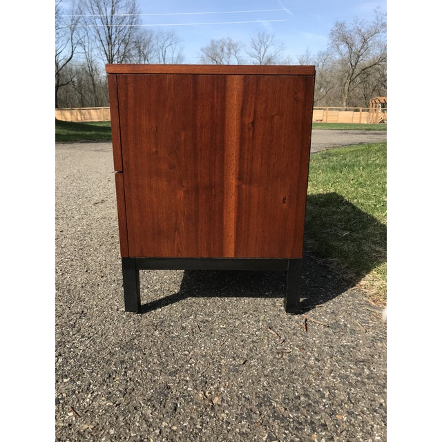 Art Deco Walnut and Black Art Deco 2 Drawer Chest For Sale - Image 3 of 7