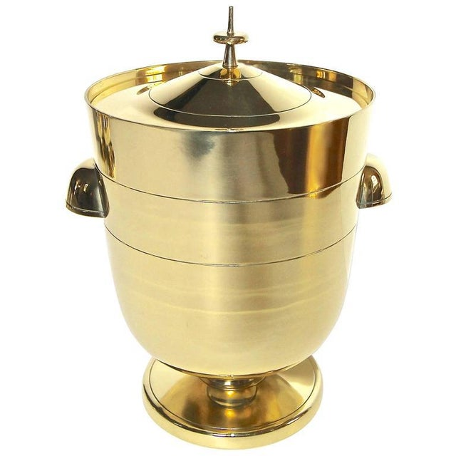 1950s Vintage Tommi Pazinger for Dorlyn Brass Ice/Champagne Bucket For Sale - Image 11 of 11