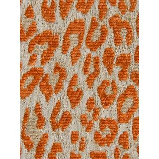 Sample, Scalamandre Leopard Orange Koi Fabric For Sale