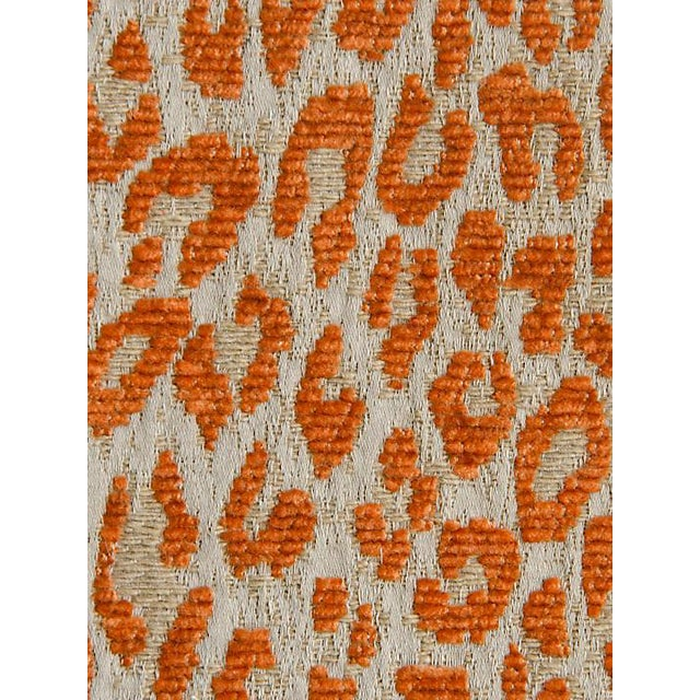 Sample, Scalamandre Leopard Orange Koi Fabric For Sale