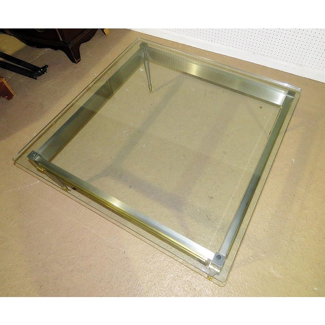 Metal Mid 20th Century Vintage John Vesey Style Coffee Table For Sale - Image 7 of 11