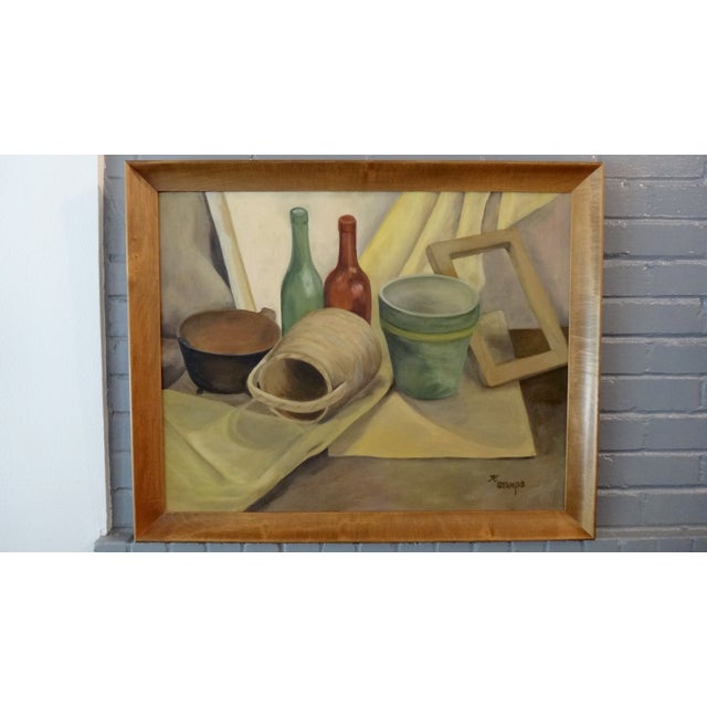 Mid-Century Still Life Painting by K. Stamps - Image 2 of 5