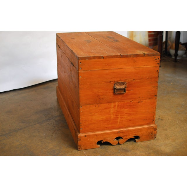 British Colonial Teak Travel Trunk/Chest - Image 4 of 9