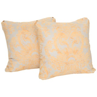 Baroque Fortuny Cushions - a Pair For Sale