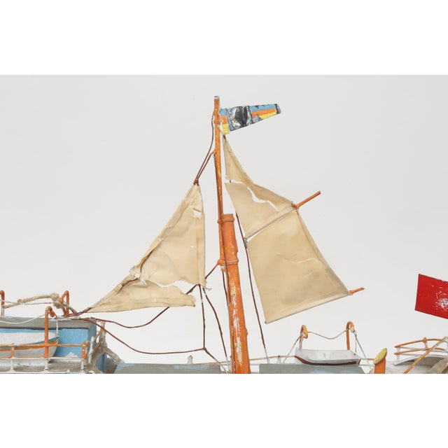 Large Model Boat Ship with Stand - Image 7 of 9