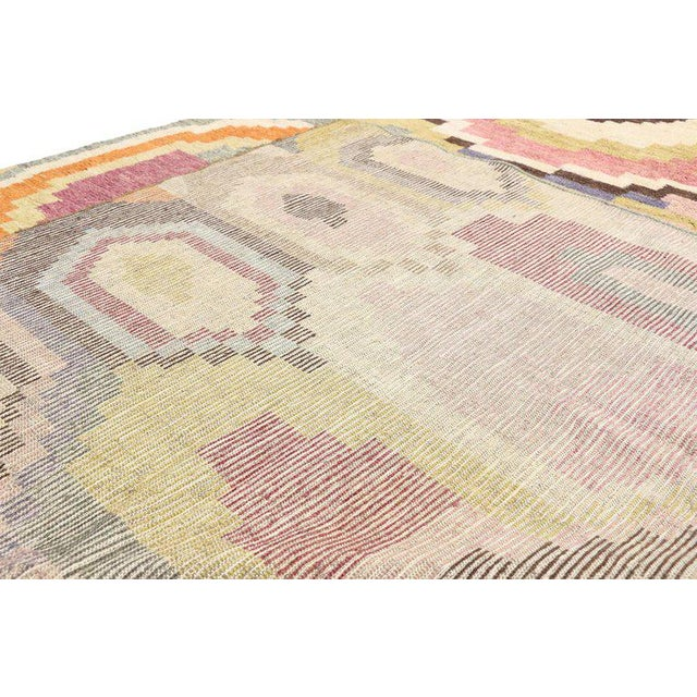 New Contemporary Moroccan Postmodern Style Rug - 10′3″ × 13′11″ For Sale - Image 4 of 9