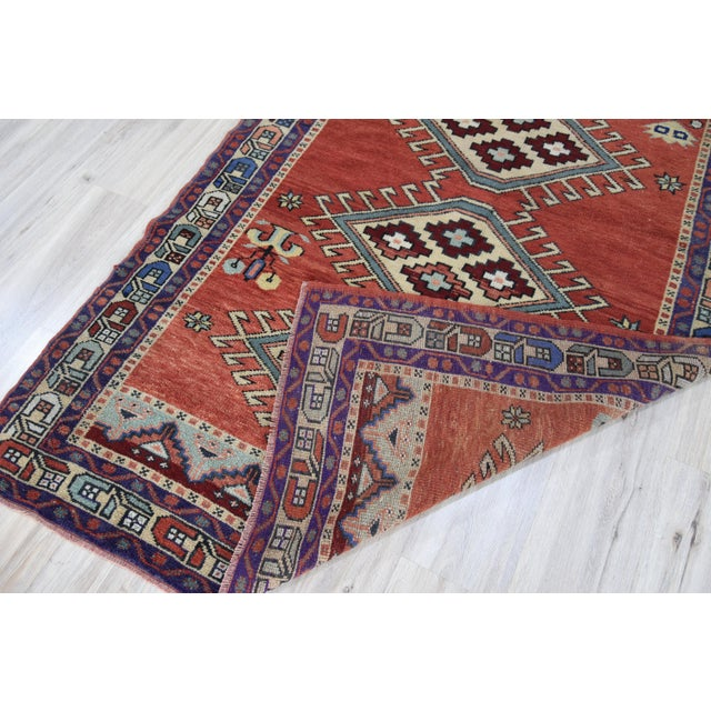 Vintage Oushak Wool Hand Knotted Rug - 4′6″ × 8′1″ - Image 11 of 11