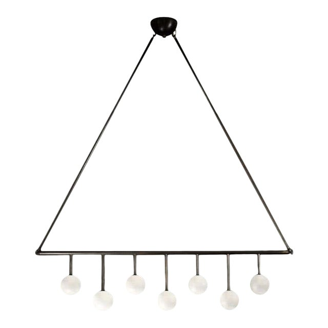 Trillo Ceiling Fixture in Oil-Rubbed Bronze & Blown Glass by Blueprint Lighting For Sale