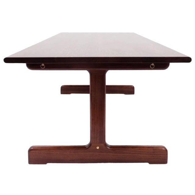 Asa Pingree Physalia Dining Table with Low Profile Foot in American Walnut For Sale