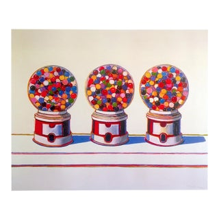 "Wayne Thiebaud Pop Art Lithograph Print Museum Poster "" Three Machines "" 1963 For Sale"