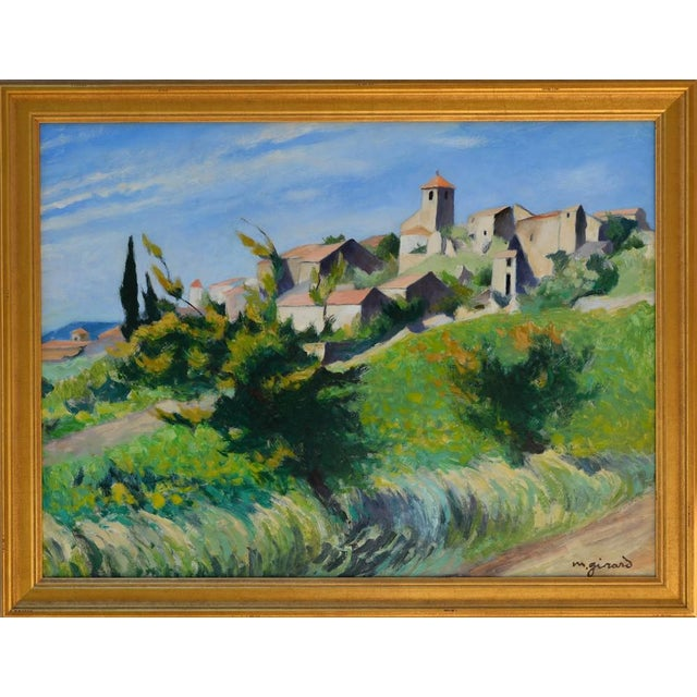Light and playful post impressionist landscape of a hillside in Provence, France. This artist took exceptional notice of...