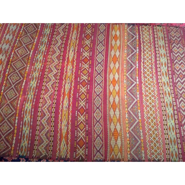 "Moroccan Vintage Moroccan Kilim 5' 9"" X 10' For Sale - Image 3 of 11"