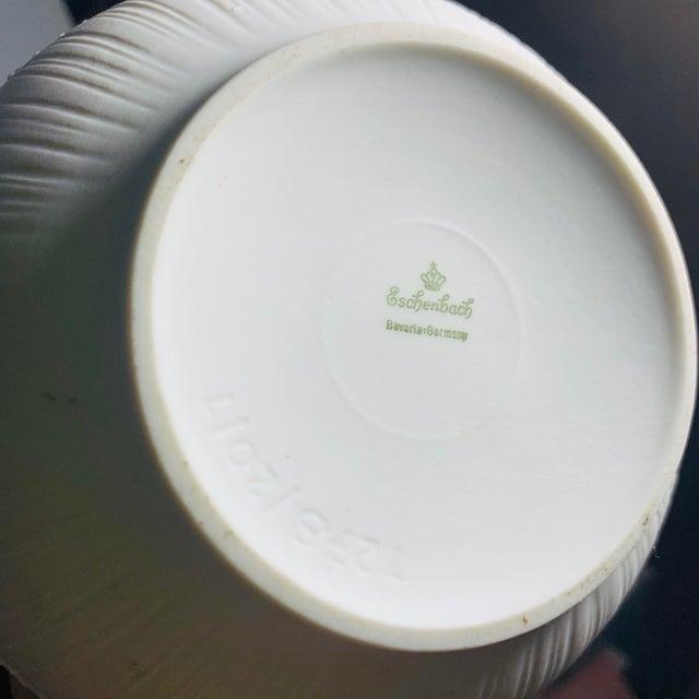Brutalist Vintage Rosenthal China White Textured Porcelain Vase For Sale - Image 3 of 5