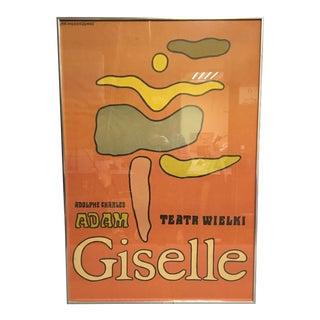 """1968 """"Giselle"""" Ballet Poster by Jan Młodożeniec, Framed For Sale"""