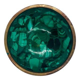 1970s Malachite and Copper Bowl For Sale