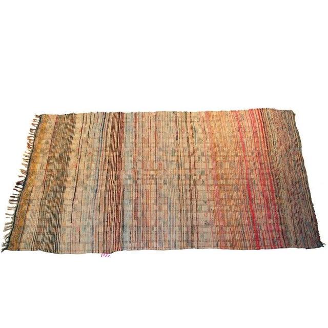 """Boho Chic Vintage Boucherouite Carpet -10'2"""" X 5'6"""" For Sale - Image 3 of 4"""