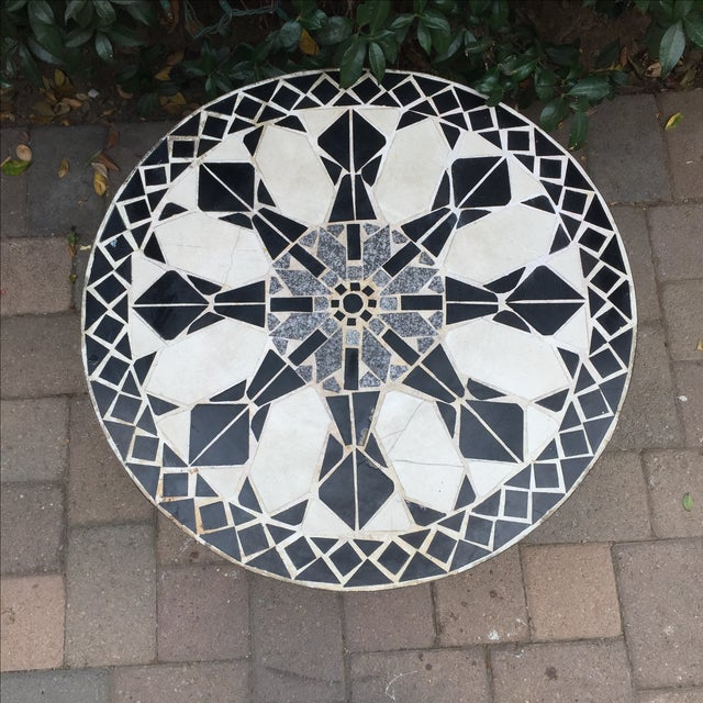 Mid Century Mosaic Tile Sunburst Patio Table Chairish